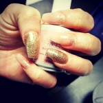 Gold Fleck Nails at Authentic Locks
