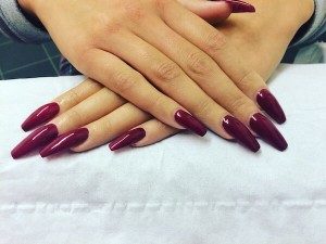 nail, beauty & tanning Luxury Purple Gel Nails by Louise at Authentic Locks Meanwood