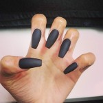Matt Black Nails by Authentic Locks Leeds